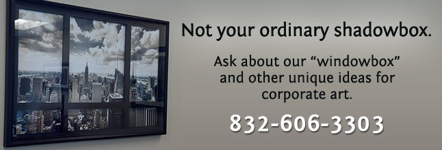 corporate art shadow boxes